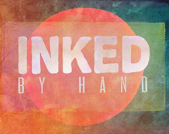 Hand Inked - High-Res Ink Textures, Photoshop Layer Styles - Painted Textures - PNG Clipart - Digital Paper - Watercolor Textures