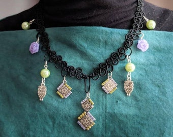 Peas and Roses Necklace