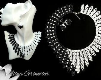 and white jewelry Black