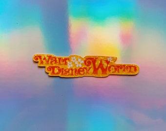 Walt Disney World - Glitter Holographic Sticker