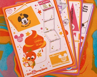 Sticker Pack - 1971 Flair - Stickers for Bullet Journal, Scrapbooks, and Planners - Walt Disney World Inspired