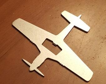 P-51 Mustang Warbird Steel Aircraft Bottle Opener - Aviation - Pilot Gift