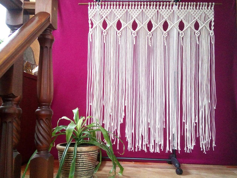 22adc7ea6c Extra Large Macrame Wall Hanging Tapestry Wedding Backdrop