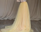 Marigold wedding skirt / Light mustard bridal skirt ready to ship