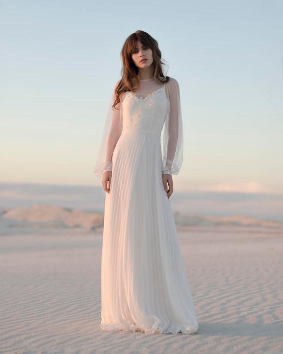 Ivory Chiffon Wedding Dresses