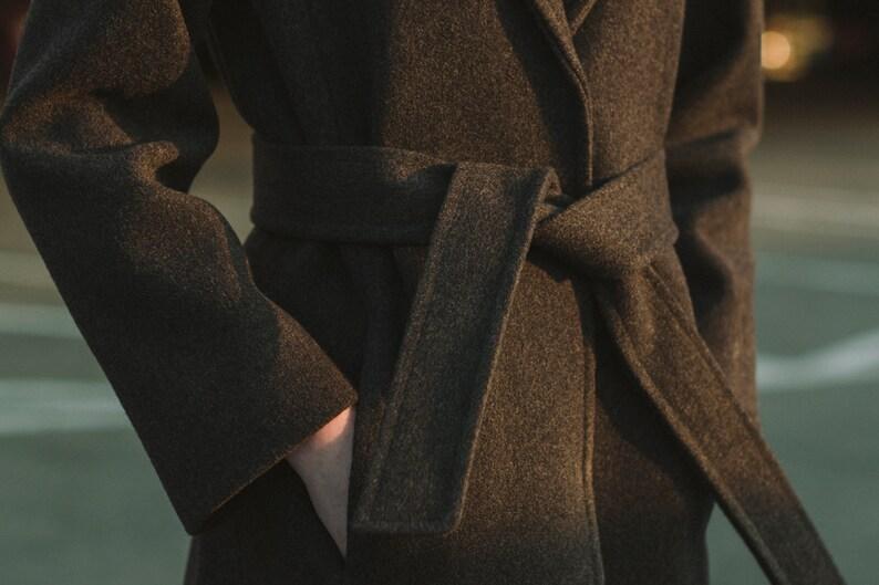Gray wool coat  Winter and autumn coat
