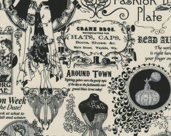 Vintage Fashion Plate Cotton fabric