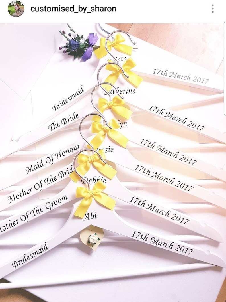 Personalised bridal hangers wedding dress hanger bride hanger, bridesmaid gift bridesmaid hanger wedding hangers