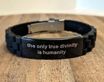 Vegan Atheist Humanist Skeptic Bracelet with William Pitt quote