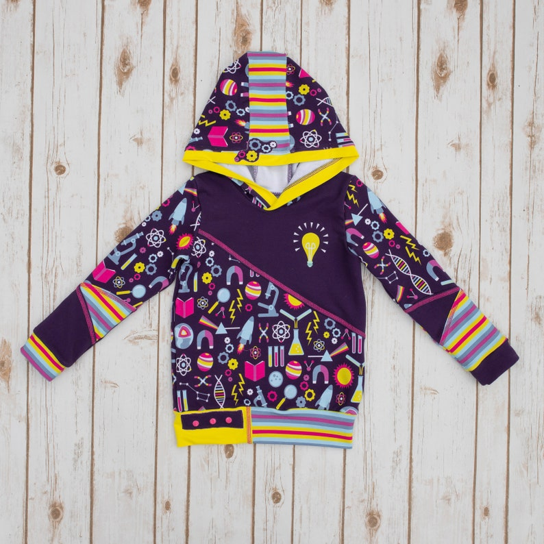 2473bf02f Girl STEM Purple Science Hoodie - Science Kid Shirt - Bright Idea Hoodie -  Girl Science Shirt - Girl Science Hoodie - STEM    Size 6