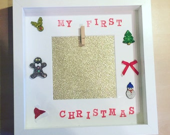 My first christmas frame ( can be personalised with childs name)
