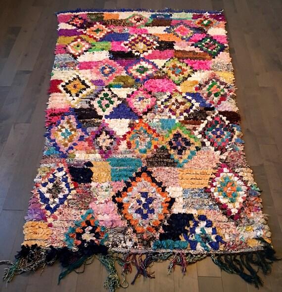 bourcherouite marocain fait main tapis 4 39 1 x etsy. Black Bedroom Furniture Sets. Home Design Ideas