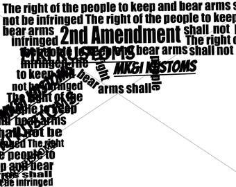 Merica Svg/ Patriotic svg/Gun Svg/ Second Amendment svg/ 4th July/2nd amendment svg/Cricut files svg/Silhouette svg/4th of July svg