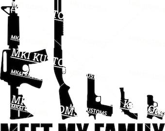 Gun Family Svg/ Gun Decal Svg/ Gun Svg/ Skull Svg/ Dont Tread On Me Svg/ 2nd Amendment Svg/ Second Amendment Svg/ Gun Rights/ Patriotic Svg/