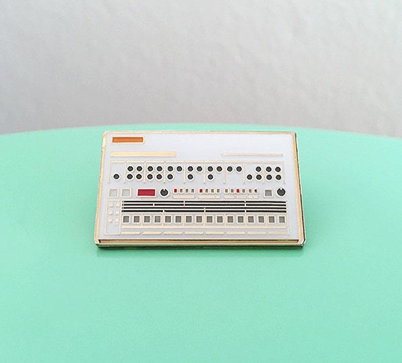 Drum Machine Enamel Pin