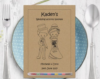 Vintage Wedding Colouring Pages, Wedding Activity Book, Children's Wedding Activities Booklet, Kids Wedding Pack, Wedding Activities Book