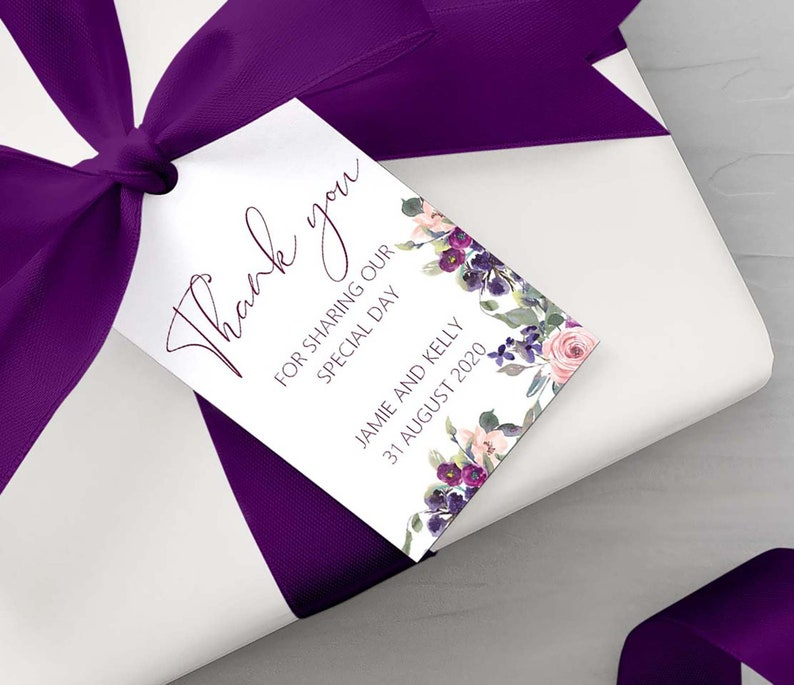 Thank you for sharing our special day gift tags perfect for image 0