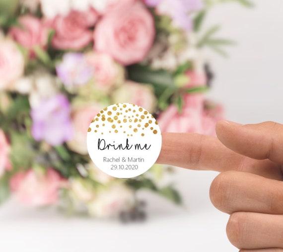 Personalised Ladies Bathroom Toiletries Wedding Sign Champagne Gold Effect