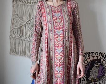 Tunic mid-length vintage 70's paisley pattern