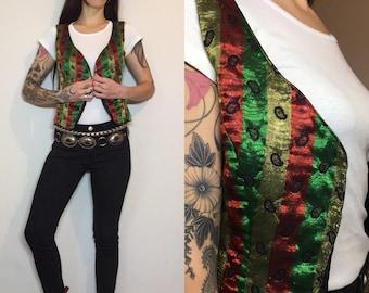 Indian shiny vintage vest