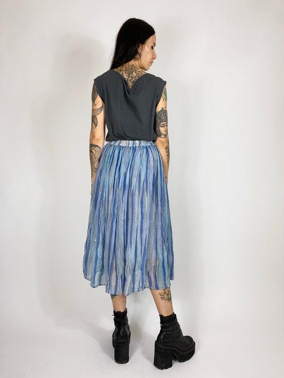 Vintage Ritu Kumar silk midi skirt // Vintage ind… - image 4