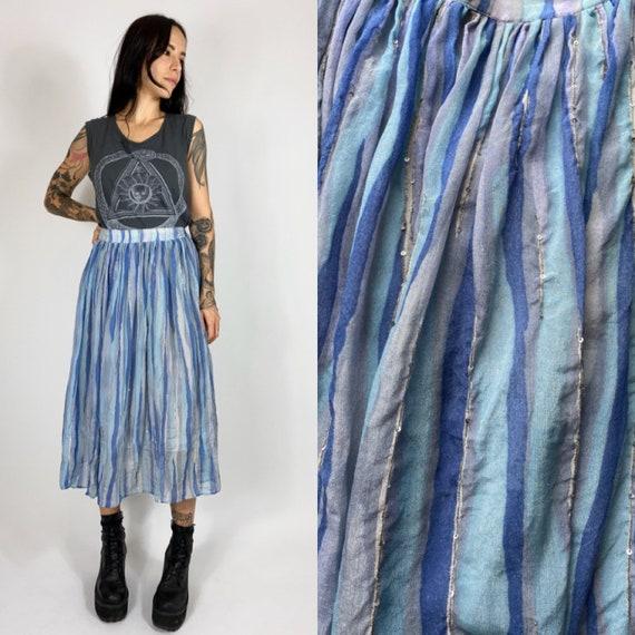 Vintage Ritu Kumar silk midi skirt // Vintage indi