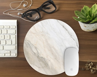 Marble mouse pad, Mouse pad, gift for her Mousemat Rectangular Mousepad white marble mouse pad marble birthday gift under 20 infigohome