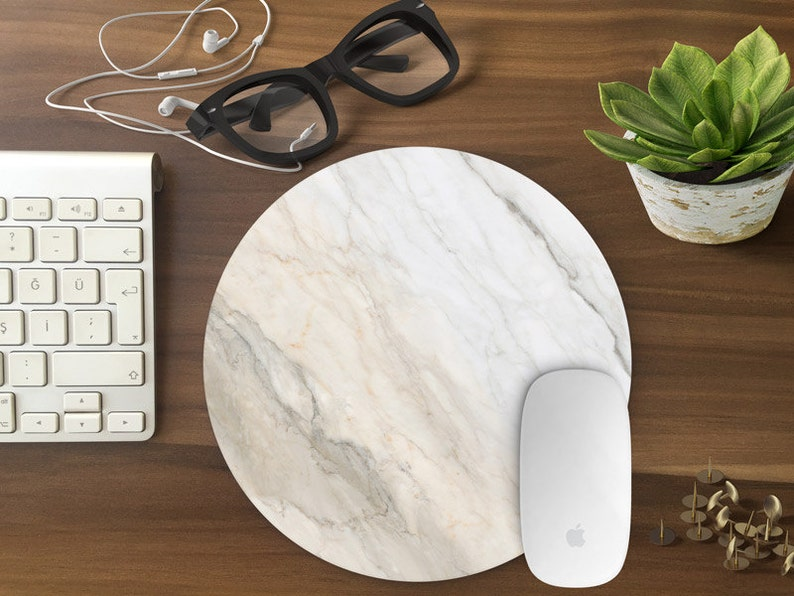 Marble mouse pad Mouse pad gift for her Mousemat Rectangular image 0