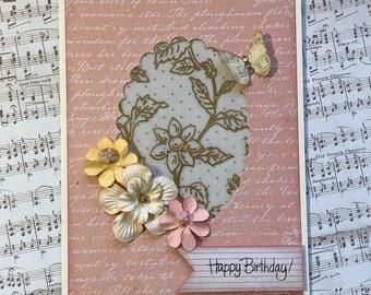 Birthday Wishes//Happy Birthday//Flowers//Blank Inside