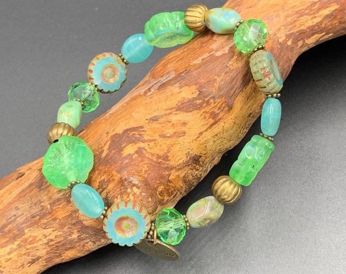 Bracelet made of Bohemian glass beads