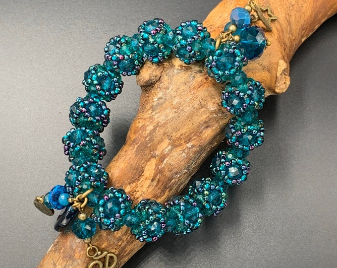 Handmade beaded bracelet made of Toho beads. More colors to choose from.
