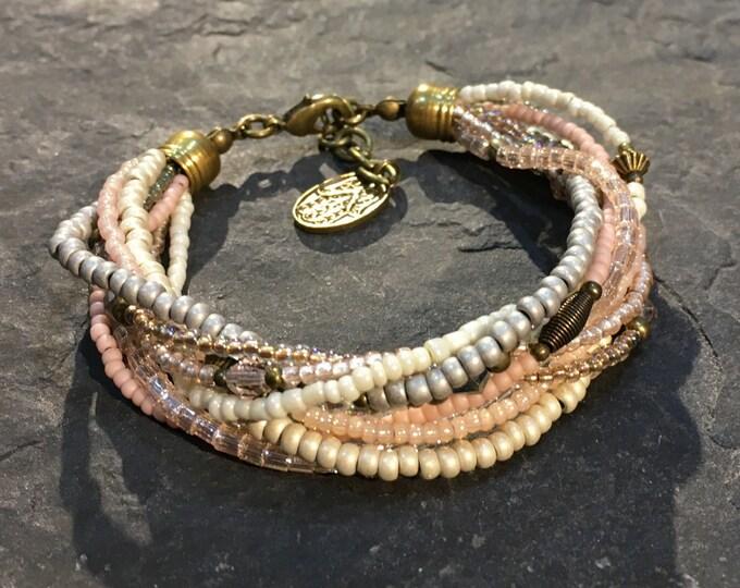 Handmade beaded bracelet made of Toho beads.