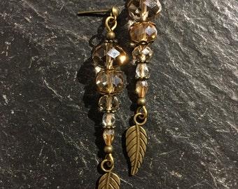 Handmade beaded earrings made of beads.