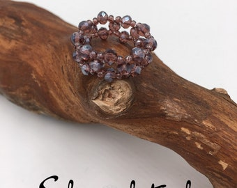 Handgemachter Perlen Ring aus Toho Perlen in Ring türkis