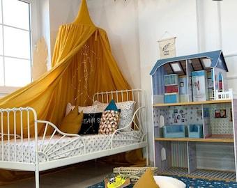 Mustard Cotton Canopy 50 cm, Yellow Nursery Baldachin, Mustard Bed Canopy, Hanging  Play Tent, Nook Baldachin, Bed Hanging Canopy, Play Tent