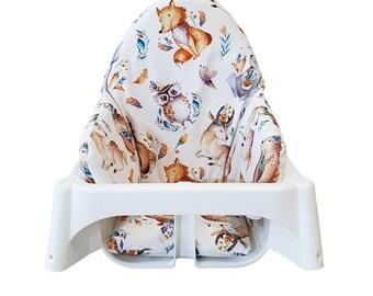 Woodland Highchair pad, IKEA Antilop Pad, Ikea High Chair Cushion, Highchair Cushion Pad