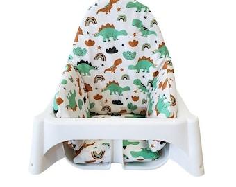IKEA Antilop HighChair Pad, IKEA High chair Cushion Pad,  Baby highchairs Cushion, Dinasour Highchairs Cushion