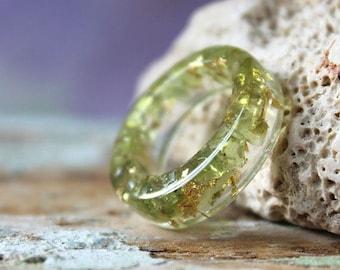 gemstone resin rings
