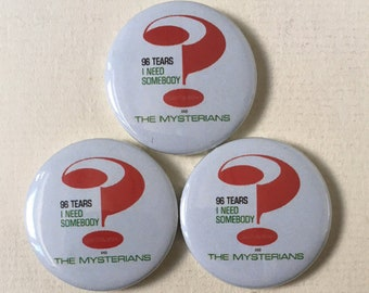 "NEW! Question Mark and The Mysterians ""96 Tears"" Pinback Button."