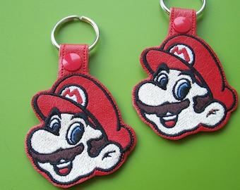 Mario Key Ring/Key Fob with snap