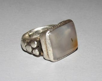 Antique carnelian silver ring