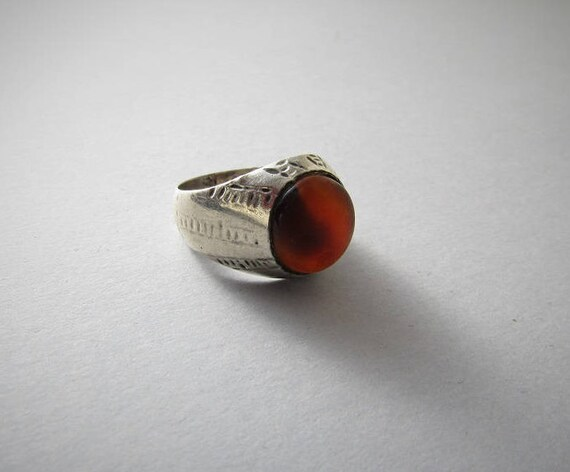 Antique afghan carnelian ring - Antique ethnic rin