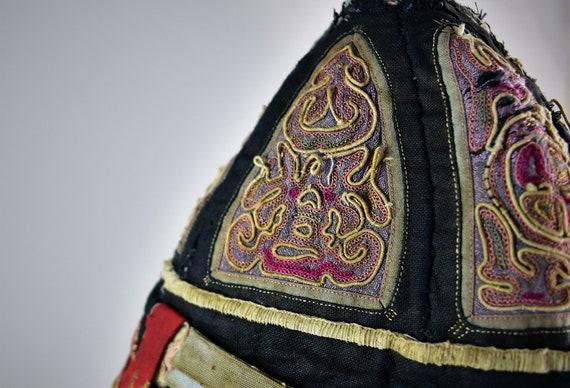 Antique mandarin silk hat - Hand embroidery hat - image 7