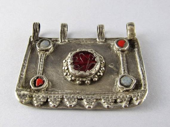 Antique afghan silver pendant - Ethnic pendant - E