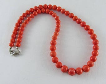Graduated beads necklace - Madrepore beads