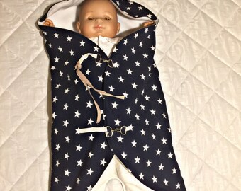 Bunting for first age. cotton baby stroller linen combination nomad star