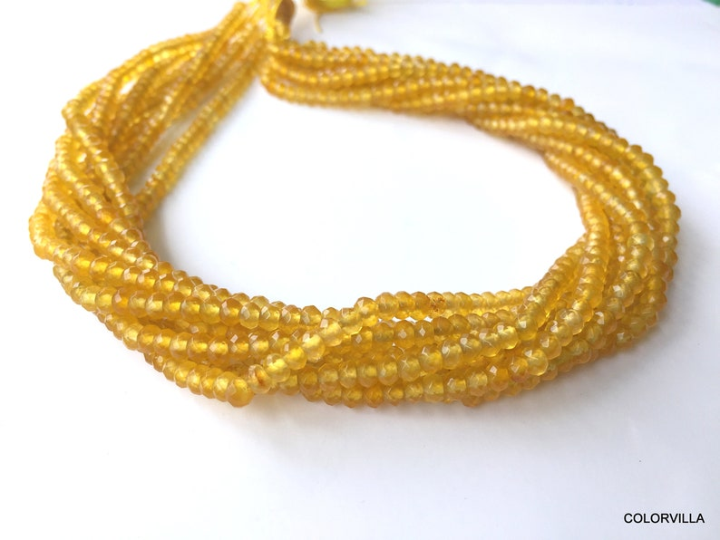 10 Clearance Sale 60/% OFF Lot Of Ten Strands Yellow Sapphire Quartz Rondelle Beads  Faceted Gemstone Beads 4 mm Beads  Yellow Beads