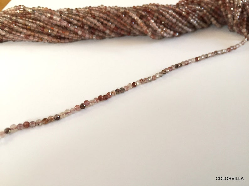 Natural Cherry Faceted Rondelles 2 mm 2.5 mm beads  Cherry Beads  Cherry  Faceted Beads