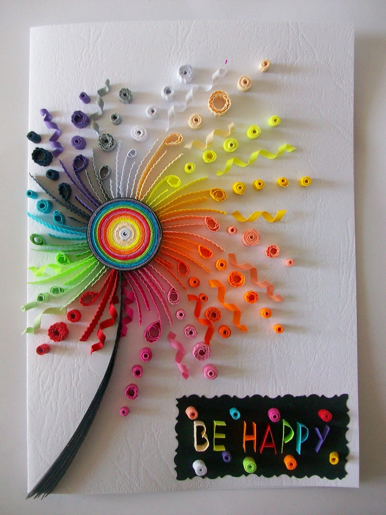 birthday card quilling card quilled birthday card paper  etsy