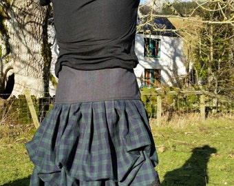18a87008f0 Outlander inspired scottish skirt with laced waist. Made to order with  colours of your choice